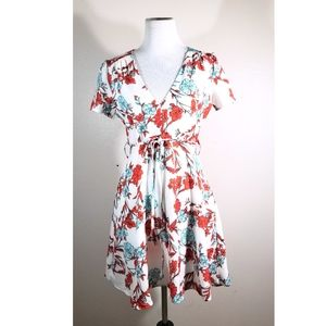 3/$25 White and Red  Floral Dress